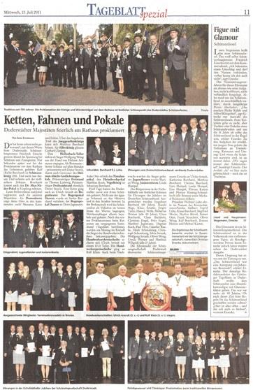 Bericht vom Schützenfest 2011 Duderstadt